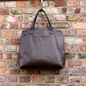Large brown tote | Leather oversized handbag | Handmade by Vank Design