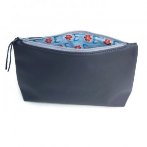 Grey cosmetic bag | Small make up bag | Handmade by Vank Design